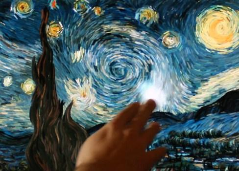 starrynight01r 488x350 เมื่อผลงานของ Vincent van gogh กลายเป็น interactive animation