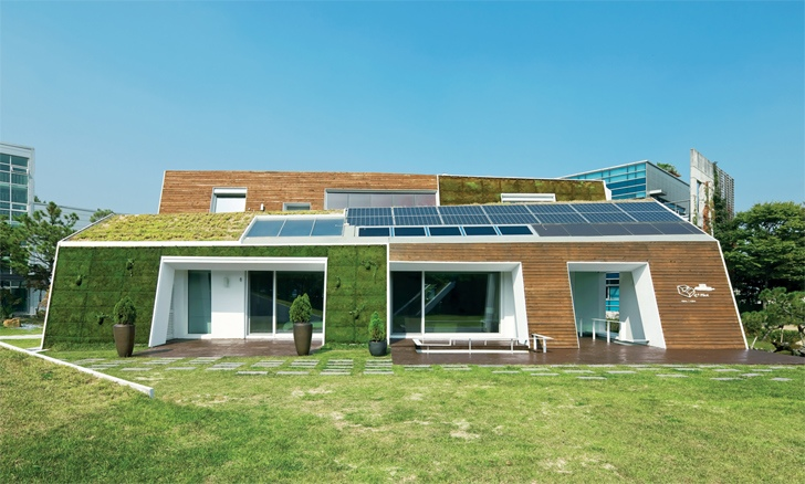 E+ Green Home ..บ้านในยุคหน้าที่เกาหลีใต้เริ่มต้นแล้ว 13 - green wall. green idea