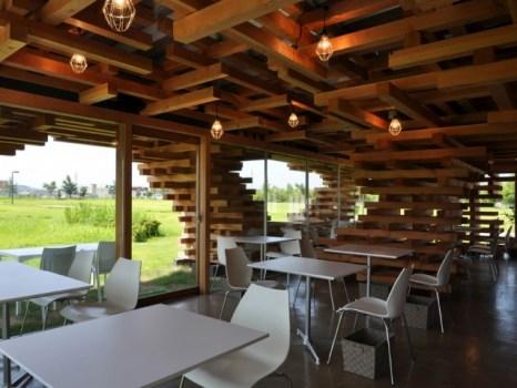 78087 466x350 Café Kureon,Wooden Restaurant