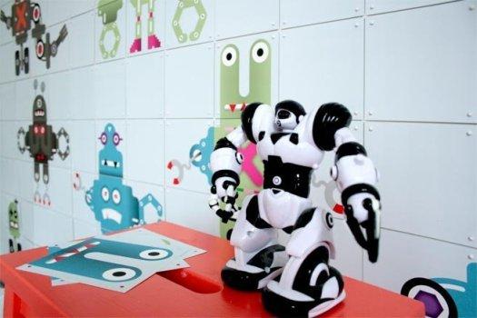 Producten Interieurproducten Kidswallpaper Robot auto auto c657 c438 q KidswallpaperRobot06 525x350 Ixxi modular connecting system ระบบการต่อกระดาษหลายแผ่นให้กลายเป็นฉากกั้นห้องหรือวอลล์เปเปอร์