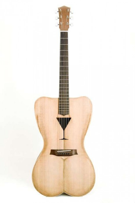 25550426 191543 Female Form 6 String Acoustic Guitar กีต้าร์โปร่งแนวๆ นู้ด..แต่อาร์ต