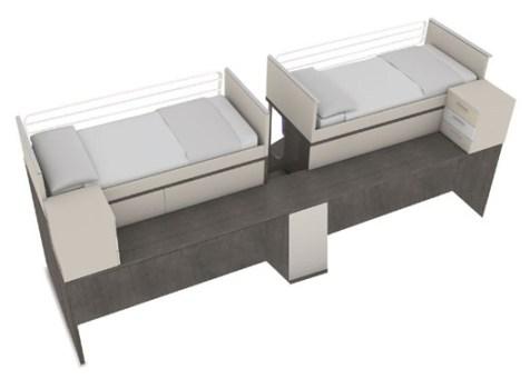 เฟอร์นิเจอร์ สำหรับพื้นที่จำกัด..เตียง+ตู้+โต๊ะทำงาน ในชิ้นเดียว 16 - bunk bed