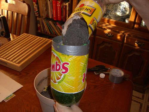 Fill the bottle D.I.Y. กระถางกลับหัวจากขวดพลาสติกใช้แล้ว