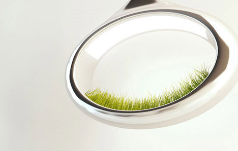 grass lamp 01 โคมไฟพลังธรรมชาติ The Grass Lamp by Marko Vuckovic