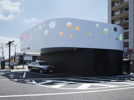kob3 90738 slide 466x350 Colorful Police station in Japan