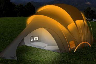 Orange Solar Tent สุดยอดเต็นท์ไฮเทค ใช้หลักการพลังงานแสงอาทิตย์ 13 - Tent