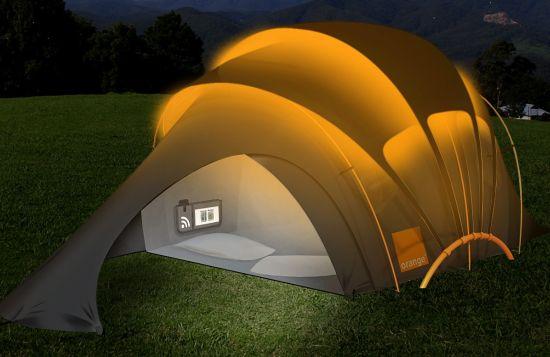 Orange Solar Tent สุดยอดเต็นท์ไฮเทค ใช้หลักการพลังงานแสงอาทิตย์ 31 - GADGET