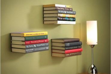 ชั้นหนังสือล่องหน...invisible shelf 15 - Book shelf