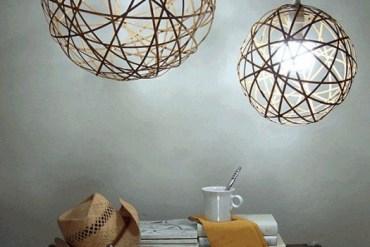 D.I.Y. โคมไฟจากไม้ไผ่ 14 - DIY