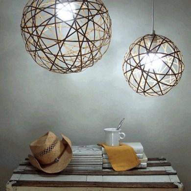 D.I.Y. โคมไฟจากไม้ไผ่ 22 - bamboo lamp