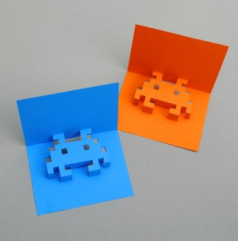 8 bit 3 346x350 DIY.space invader pop up card