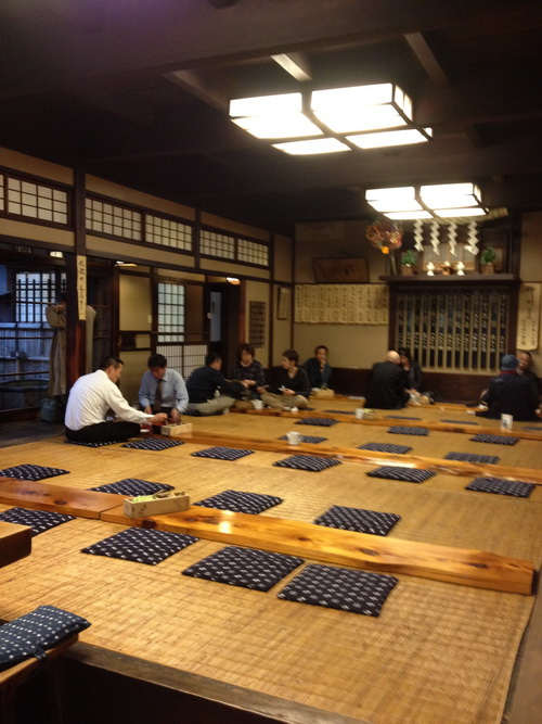 Komagata Dojo, old style seats