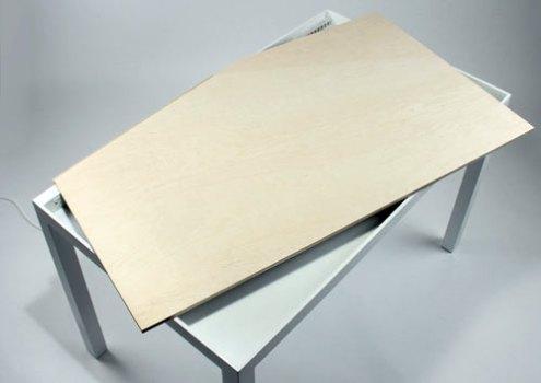 Tambour Table 3 495x350 Tambour Table โต๊ะทำงานที่ซ่อนสายไฟและเก็บของได้อย่างชาญฉลาด