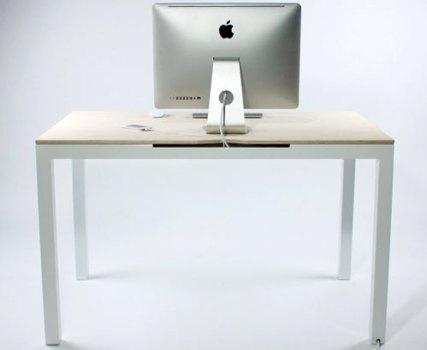 Tambour Table 4 427x350 Tambour Table โต๊ะทำงานที่ซ่อนสายไฟและเก็บของได้อย่างชาญฉลาด