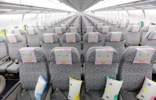 Hello kitty airplane for EVA air สายการบินนี้มีแต่คิตตี้ 16 -