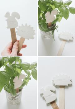 DIY:CLAY PLANT LABELS 18 - DIY