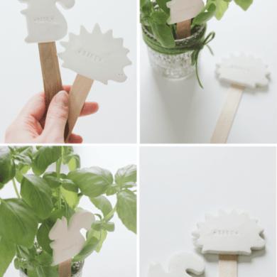 DIY:CLAY PLANT LABELS 17 - DIY