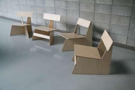 Four Brothers..เก้าอี้ 4 พี่น้อง...เก้าอี้ที่เป็นมิตรกับสิ่งแวดล้อม 13 - eco-friendly chair