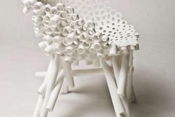 เก้าอี้จากท่อ PVC รีไซเคิล 10 - PVC