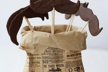 DIY.Chocolate moustache lollipops ของหวานหนวดๆ 10 - Chocolate