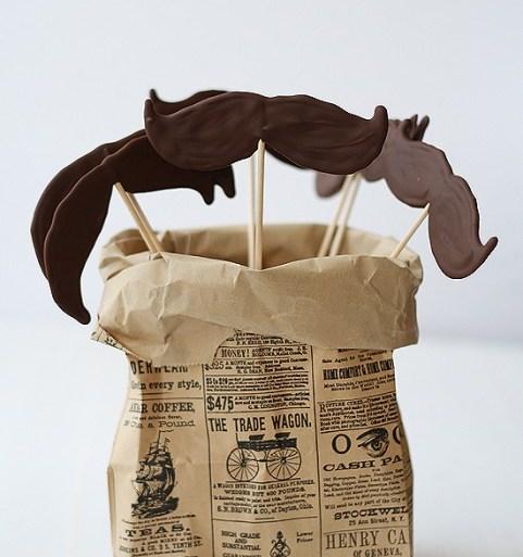 DIY.Chocolate moustache lollipops ของหวานหนวดๆ 20 - Chocolate