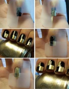 10 272x350 12 Amazing DIY Nail Art Designs Using Scotch Tape เล็บสวย12 วิธีด้วยสก็อตเทป