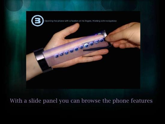 25550710 095043 Rollerphone..สมาร์ทโฟน บนสายรัดข้อมือ แบบหนัง Sci Fi เลย