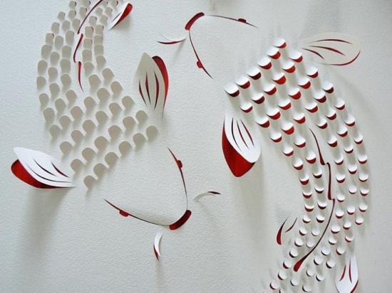 งานศิลปจากการตัดกระดาษ  โดย Lisa Rodden 13 - paper art