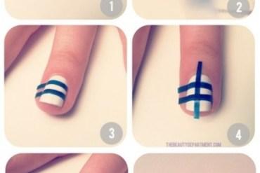 12 Amazing DIY Nail Art Designs Using Scotch Tape เล็บสวย12 วิธีด้วยสก็อตเทป 26 - STYLE&FASHION