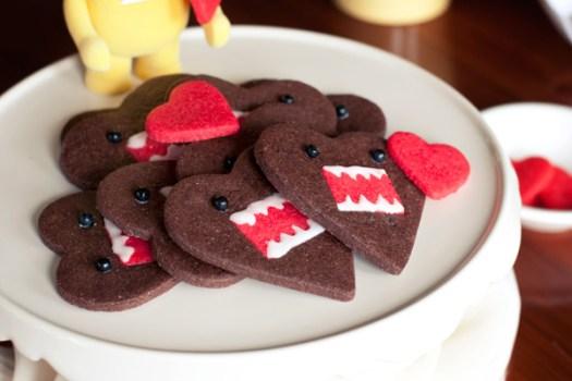 คุกกี้โดโมะ น่ารักๆ chocolate domo-kun heart cookies 19 - Chocolate