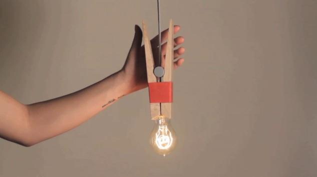 Clothespin Light Bulb ไม้หนีบหลอดไฟ 14 -