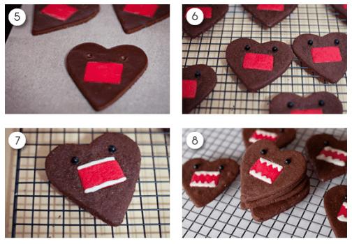 Screen Shot 2012 07 03 at 9.00.14 PM 504x350 คุกกี้โดโมะ น่ารักๆ chocolate domo kun heart cookies
