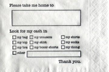 Dear Cab Driver Napkins...กระดาษชำระเงิน 2 - Dear Cab Driver Napkins.