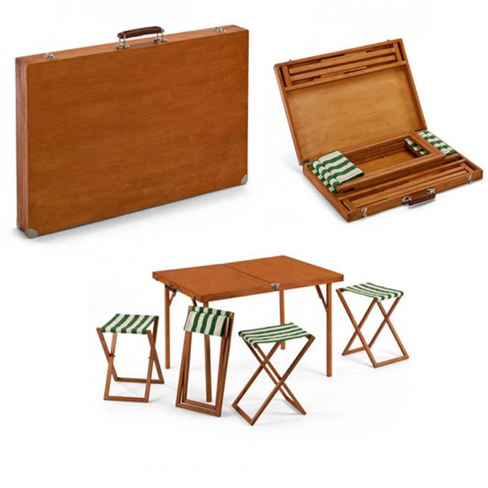 ชุดโต๊ะ เก้าอี้ To Go... พับเก็บเป็น กระเป๋าไม้สวยงาม 13 -