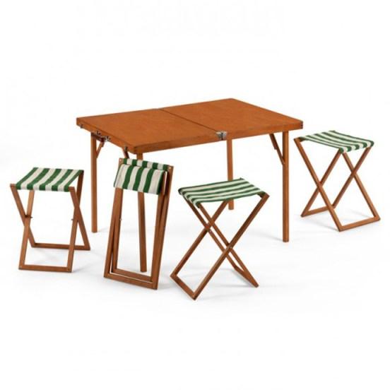 ชุดโต๊ะ เก้าอี้ To Go... พับเก็บเป็น กระเป๋าไม้สวยงาม 4 -