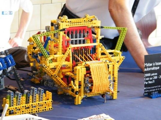 25550805 150434 เครื่องทอผ้าจาก Lego