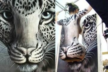 Body Painting..เพื่อช่วยอนุรักษ์เสือในประเทศจีน