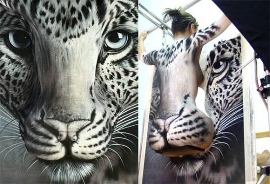 25550929 090109 Body Painting..เพื่อช่วยอนุรักษ์เสือในประเทศจีน