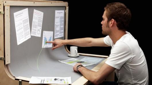 benddesk Futuristic Desktop: 3D Multi Touch Computer + Desk Design