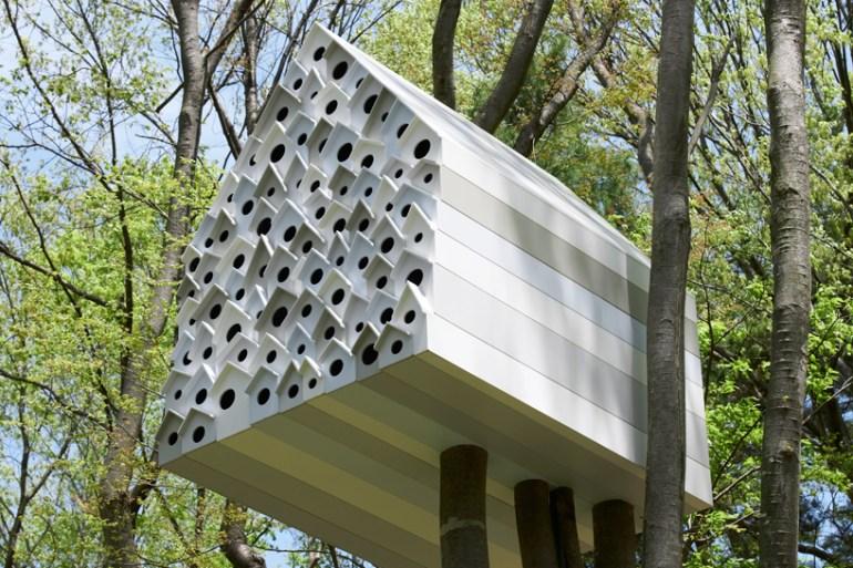 บ้านนก bird-apartment   18 - forest