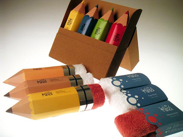 Packaging ผ้าขนหนู..แนวคิดเจ๋งๆ ที่ทำเป็นยางลบในแท่งดินสอ 29 - packaging