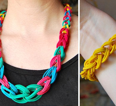 DIY.Rubber Band Chain Necklace&Bracelet 19 - bracelet