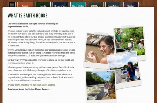 WWF Earth Book 2012 Project เฟชบุ๊คของธรรมชาติ 16 - Green project