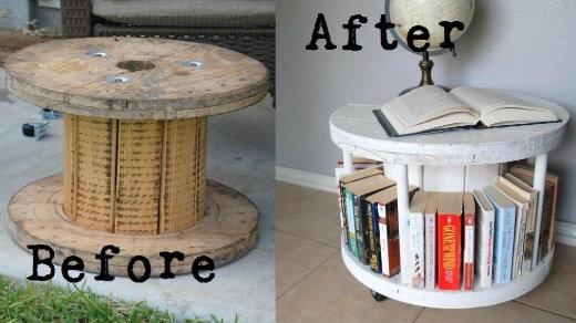 25551003 184027 DIY ทำที่เก็บหนังสือ จากแกนเก็บสายเคเบิ้ล