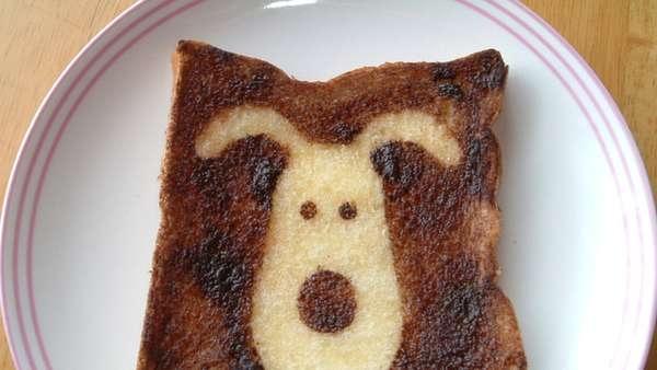 25551017 100539 DIY สร้างสรรค์ภาพการ์ตูนบนขนมปัง..ง่ายๆจากฟลอยห่ออาหาร