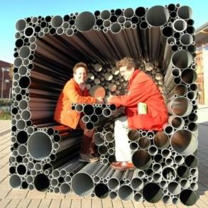 ที่นั่ง..ที่เล่นจากท่อพีวีซี 14 - interactive pavillion