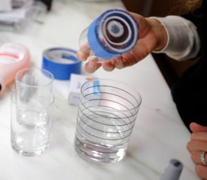 DSCF8128 402x350 DIY: Marbleized + Striped Glassware สร้างสรรค์แก้วลายหินอ่อน สำหรับปาร์ตี้