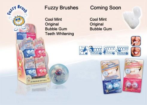 fuzzy retail2 491x350 แปรงสีฟันเคี้ยวได้ (ไม่ต้องใช้น้ำ) Fuzzy Brushes