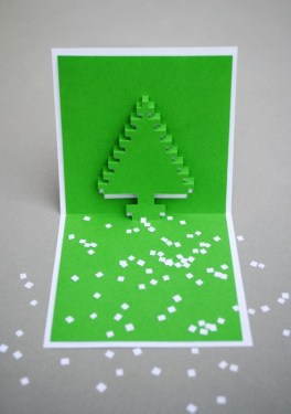 DIY.Christmas pixel popup cards 17 - christmas