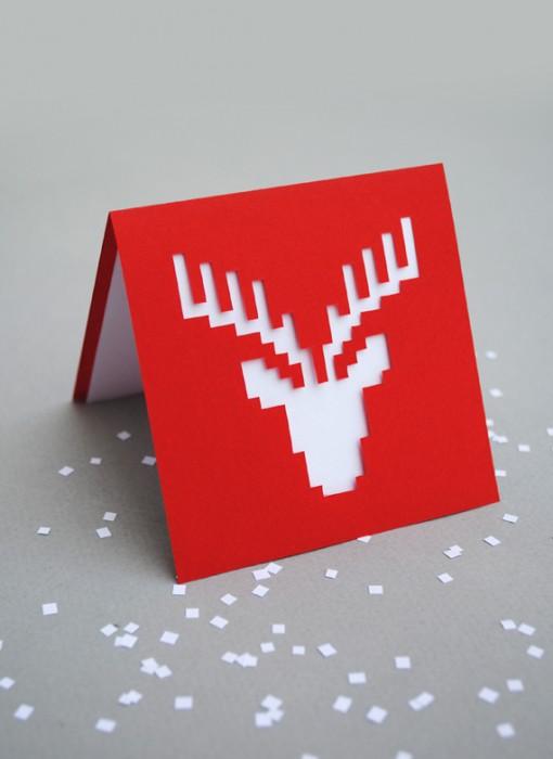 DIY.reindeer card 13 - card